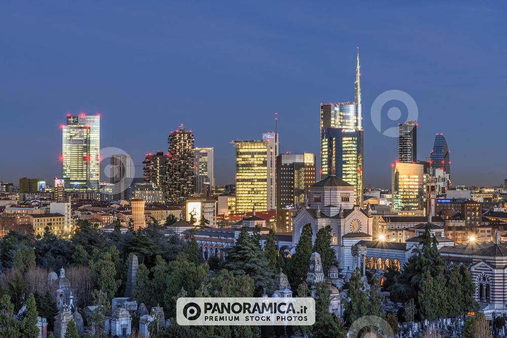Il Monumentale e i grattacieli di Porta Nuova e Porta Garibaldi