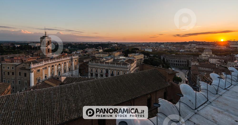 Piazza del Campidoglio vista dalla Terrazza del Vittoriano - Edifici ...